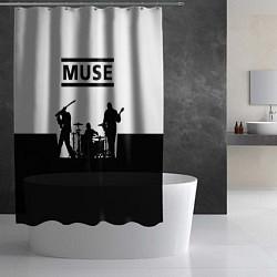 Шторка для душа Muse B&W цвета 3D — фото 2