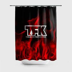 Шторка для душа Thousand Foot Krutch: Red Flame цвета 3D — фото 1