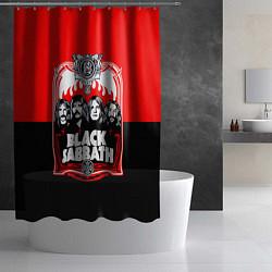 Шторка для душа Black Sabbath: Red Sun цвета 3D-принт — фото 2