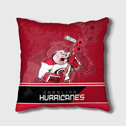 Подушка квадратная Carolina Hurricanes цвета 3D-принт — фото 1
