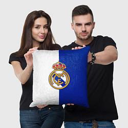 Подушка квадратная Real Madrid цвета 3D — фото 2