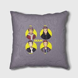 Подушка квадратная Skam Faces цвета 3D — фото 1