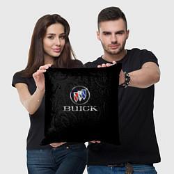 Подушка квадратная Buick цвета 3D-принт — фото 2