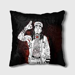 Подушка квадратная Lil Wayne: street style цвета 3D — фото 1