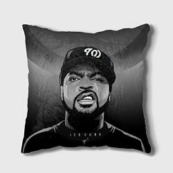 Подушка квадратная Ice Cube: Gangsta цвета 3D-принт — фото 1