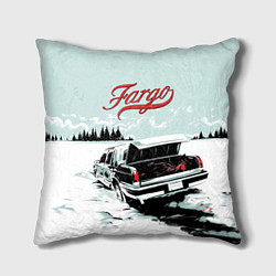 Подушка квадратная Fargo Car цвета 3D — фото 1
