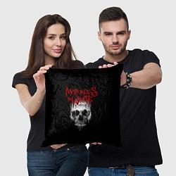 Подушка квадратная MIW Skull цвета 3D-принт — фото 2