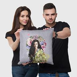 Подушка квадратная Lorde Floral цвета 3D-принт — фото 2
