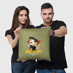 Подушка квадратная Высшая школа КГБ цвета 3D — фото 2