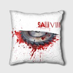 Подушка квадратная The SAW VIII цвета 3D-принт — фото 1