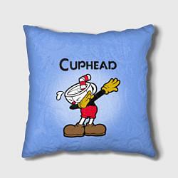 Подушка квадратная Cuphead Dab цвета 3D-принт — фото 1
