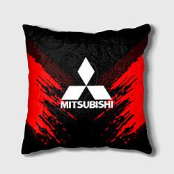 Подушка квадратная Mitsubishi: Red Anger цвета 3D — фото 1