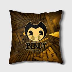 Подушка квадратная Black Bendy цвета 3D — фото 1