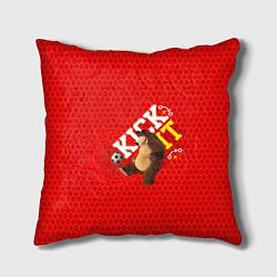 Подушка квадратная Masha & Bear: Kick it цвета 3D — фото 1