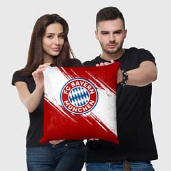 Подушка квадратная ФК Бавария цвета 3D-принт — фото 2