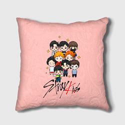 Подушка квадратная Stray Kids цвета 3D — фото 1