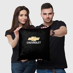 Подушка квадратная CHEVROLET цвета 3D-принт — фото 2