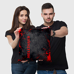Подушка квадратная Helltaker Logo Z цвета 3D-принт — фото 2