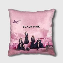 Подушка квадратная BLACKPINK x PUBG цвета 3D-принт — фото 1