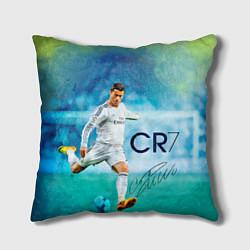 Подушка квадратная CR Ronaldo цвета 3D-принт — фото 1