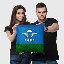 Подушка квадратная Флаг ВДВ цвета 3D — фото 2