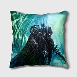 Подушка квадратная Король Лич цвета 3D — фото 1