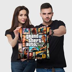 Подушка квадратная GTA 5: City Stories цвета 3D-принт — фото 2