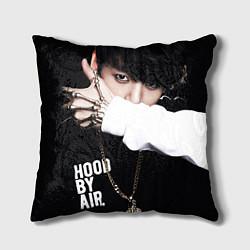 Подушка квадратная BTS: Hood by air цвета 3D — фото 1