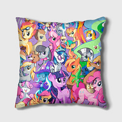 Подушка квадратная My Little Pony цвета 3D-принт — фото 1