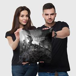 Подушка квадратная Black Veil Brides: Faithless цвета 3D-принт — фото 2