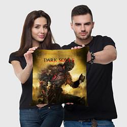 Подушка квадратная Dark Souls: Braveheart цвета 3D-принт — фото 2