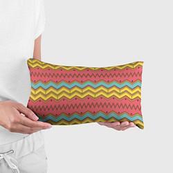 Подушка-антистресс Цветные зигзаги цвета 3D — фото 2
