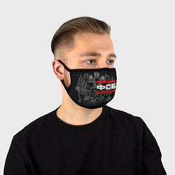 Маска для лица ФСБ: герб РФ цвета 3D — фото 1
