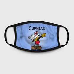 Маска для лица Cuphead Dab цвета 3D — фото 2