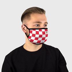 Маска для лица Сборная Хорватии: Домашняя ЧМ-2018 цвета 3D — фото 1