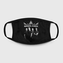 Маска для лица Nickelback Band цвета 3D-принт — фото 2