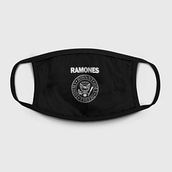 Маска для лица RAMONES цвета 3D-принт — фото 2
