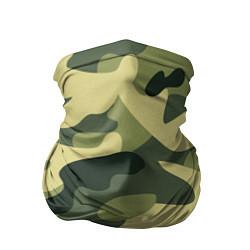 Бандана-труба Камуфляж: зеленый/хаки цвета 3D — фото 1