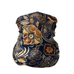 Бандана-труба Узор орнамент цветы этно цвета 3D-принт — фото 1