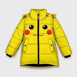 Куртка зимняя для девочки Happy Pikachu цвета 3D-черный — фото 1