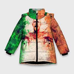 Куртка зимняя для девочки Conor McGregor: Ireland цвета 3D-черный — фото 1