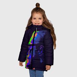 Детская зимняя куртка для девочки с принтом McGregor Neon, цвет: 3D-черный, артикул: 10102380506065 — фото 2
