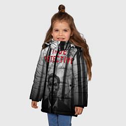 Куртка зимняя для девочки True Detective: Blackwood цвета 3D-черный — фото 2