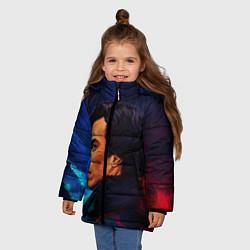 Куртка зимняя для девочки Шерлок цвета 3D-черный — фото 2