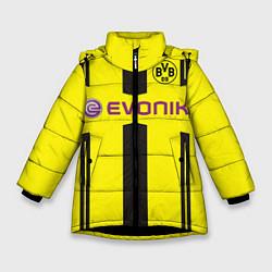 Куртка зимняя для девочки BVB FC: Evonik цвета 3D-черный — фото 1