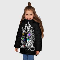 Куртка зимняя для девочки Undertale 2 цвета 3D-черный — фото 2