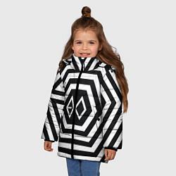 Куртка зимняя для девочки EXO Geometry цвета 3D-черный — фото 2