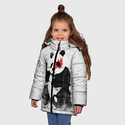 Куртка зимняя для девочки Рок-панда цвета 3D-черный — фото 2