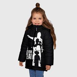Куртка зимняя для девочки Walking Dead: Family цвета 3D-черный — фото 2