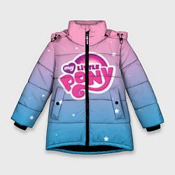 Детская зимняя куртка для девочки с принтом My Little Pony, цвет: 3D-черный, артикул: 10108222706065 — фото 1